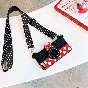 3D Minnie Mouse iPhone Case with Crossbody Strap